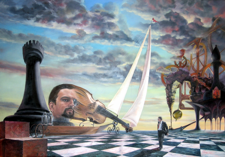 surreal-oil_painting-famous_artists-Daniel_Chiriac-chess